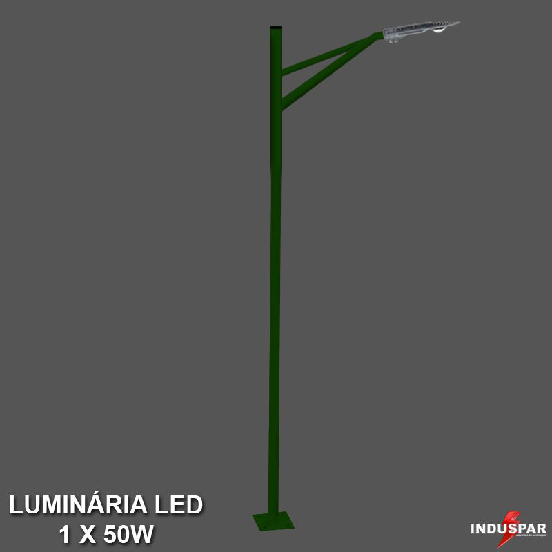 P28L/1 - Poste de Jardim Led Titan 04  - 1 Luminária  50W
