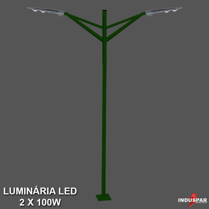 Poste de Jardim Led Titan 04  - 2 Luminária 100W - P28L/2-100W