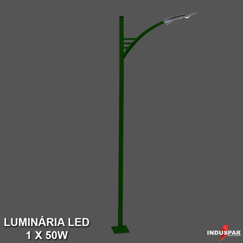 P29L/1 - Poste de Jardim Led Titan 05  - 1 Luminária  50W