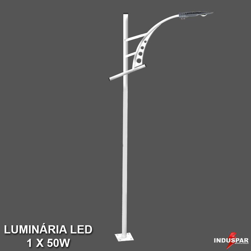 P30L/1 - Poste de Jardim Led Titan 06  - 1 Luminária  50W