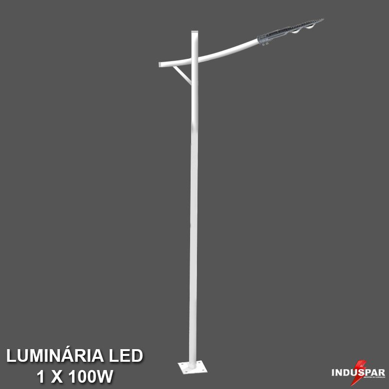 P34L/1 - Poste de Jardim Led Titan 10  - 1 Luminária 100W