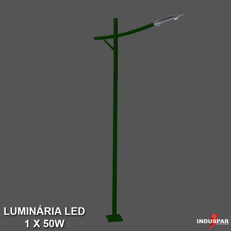 Poste de Jardim Led Titan 10  - 1 Luminária  50W - P34L/1-50W