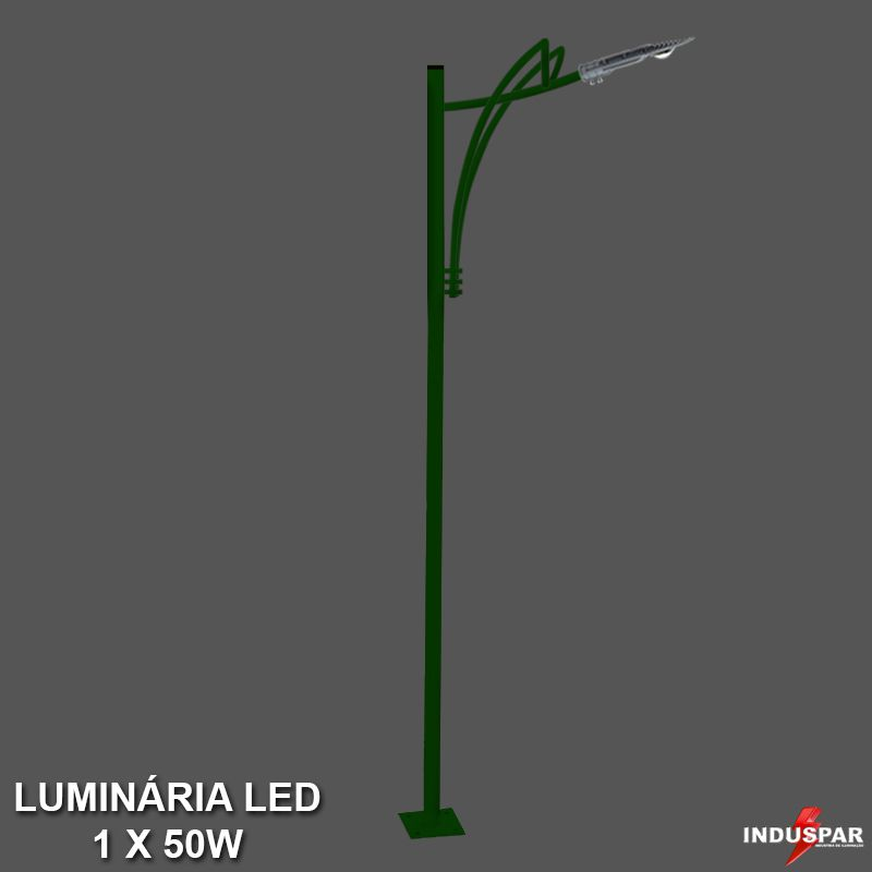 P35L/1 - Poste de Jardim Led Titan 11  - 1 Luminária  50W