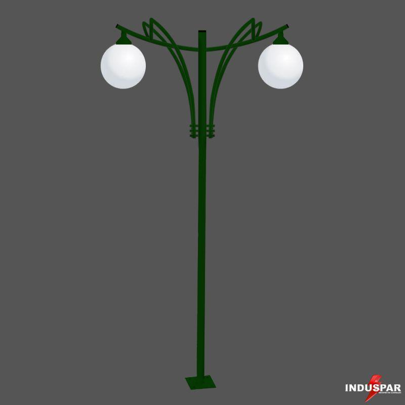 Poste de Jardim Titan 11 - 2 Globos - P35G/2