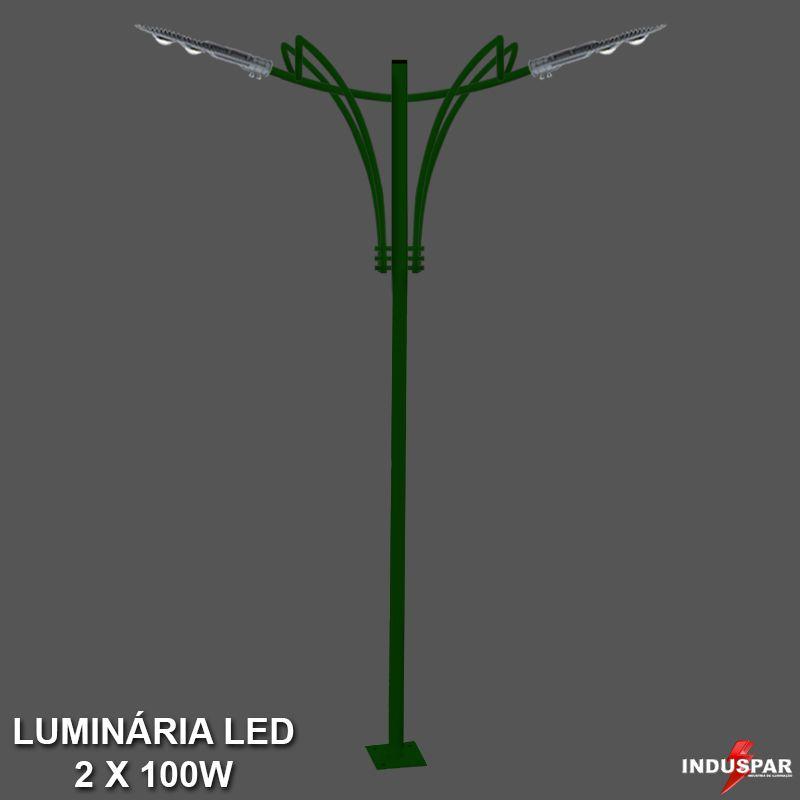Poste de Jardim Led Titan 11  - 2 Luminárias 100W - P35L/2-100W