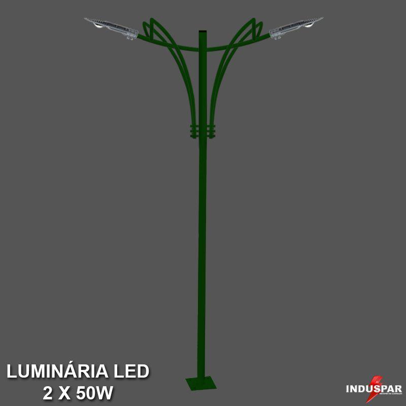 Poste de Jardim Led Titan 11  - 2 Luminárias  50W - P35L/2-50W