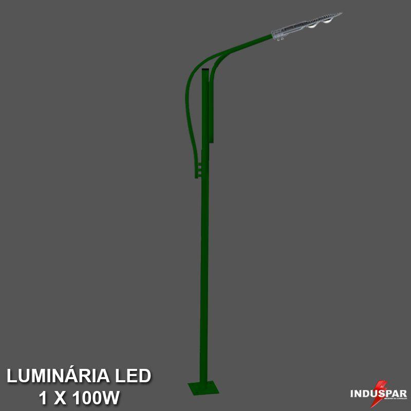 Poste de Jardim Led Titan 12  - 1 Luminária 100W - P36L/1-100W