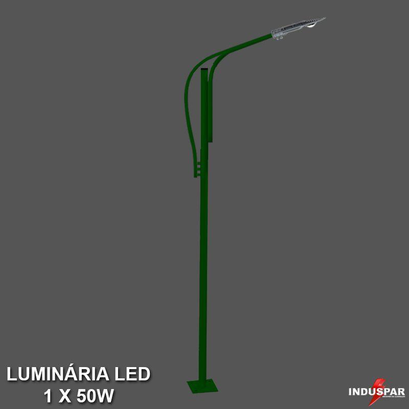 Poste de Jardim Led Titan 12  - 1 Luminária  50W - P36L/1-50W