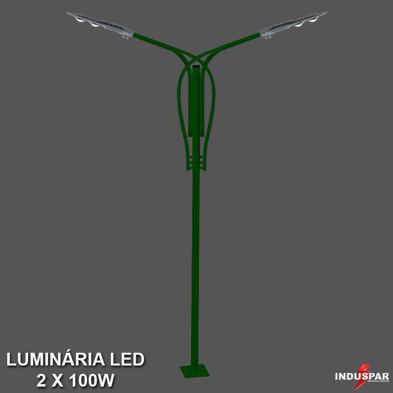 Poste de Jardim Led Titan 12  - 2 Luminárias 100W - P36L/2-100W