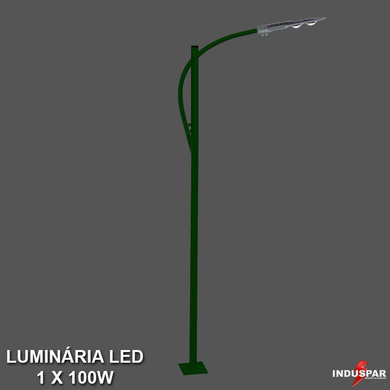 P37L/1 - Poste de Jardim Led Titan 13  - 1 Luminária 100W