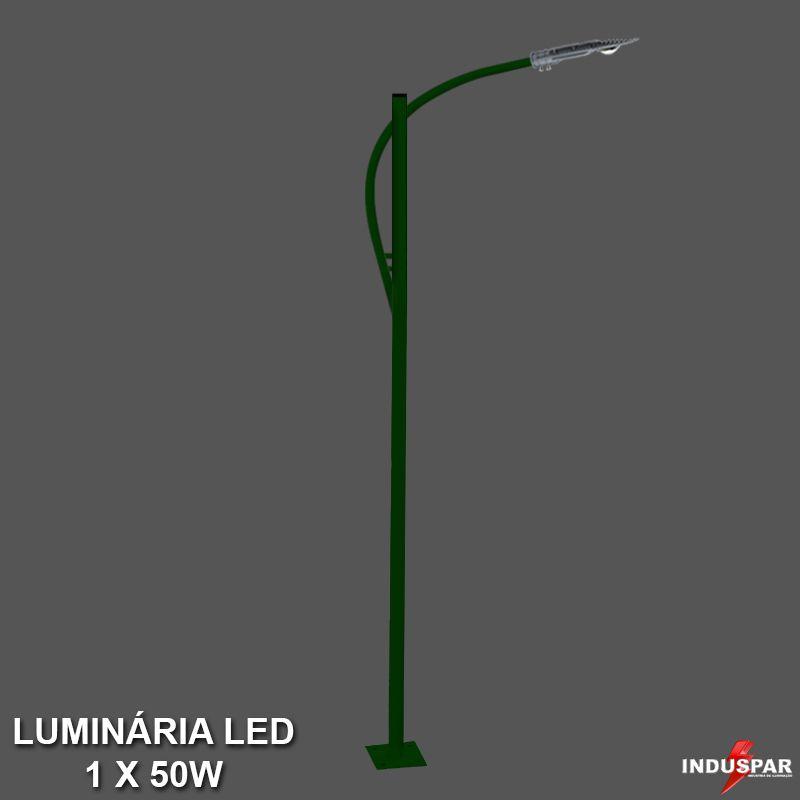 P37L/1 - Poste de Jardim Led Titan 13  - 1 Luminária  50W