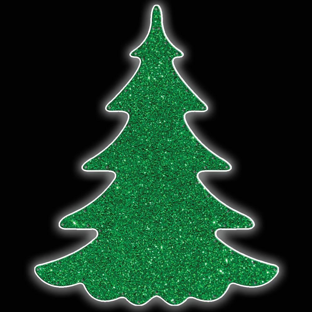 MD-074 - Painel de Natal Iluminado Led - Pinheiro Gigante 1,80 x 1,20 mts Decoração de Natal Dia e Noite