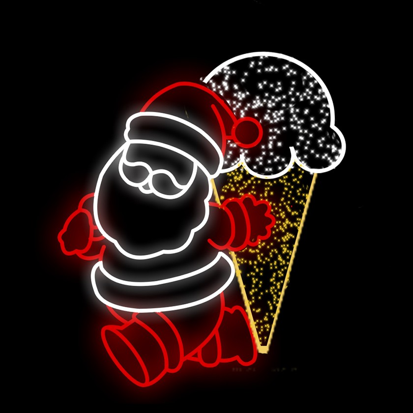 Papai Noel com Sorvete Gigante