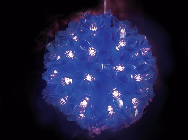 Pisca - Pisca  50 LEDS Bola Azul com 11x11CM 127V (PISCA 4 FUNÇÕES) - REF 1825