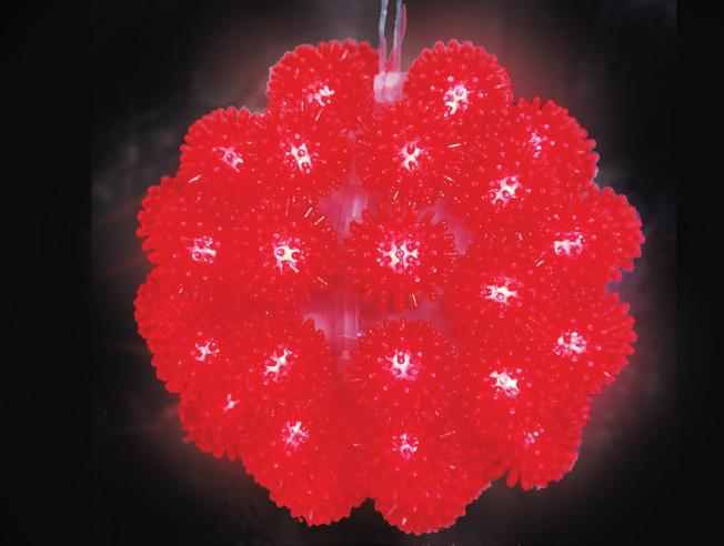 Pisca - Pisca  50 LEDS Bola Vermelha com 11x11CM 127V (PISCA 4 FUNÇÕES) - REF 1829
