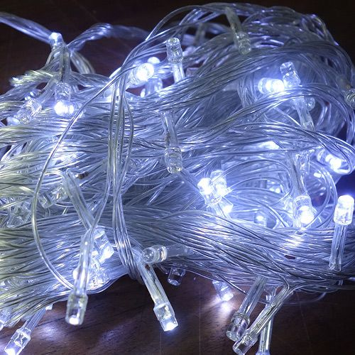 Pisca Pisca Branco Frio Led Micro Lampadas fio Transparente - Fixo - Comp. 9,50mts