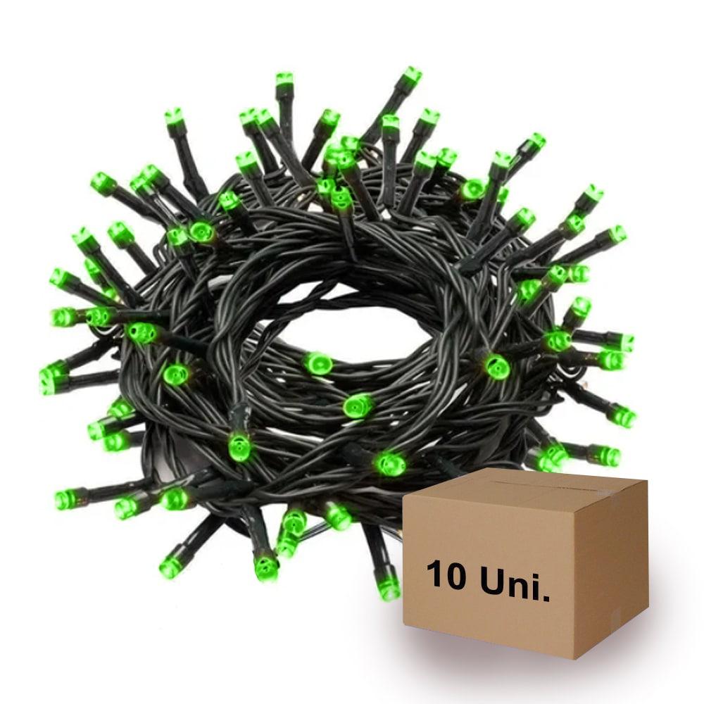 Pisca Pisca Led | Verde | Fio verde | 10 Unidades