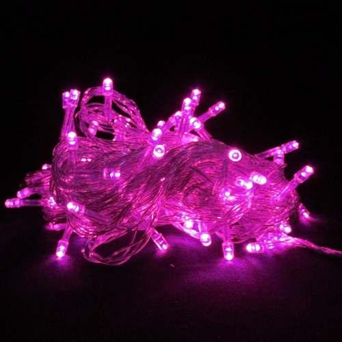 Pisca Pisca Rosa Led  fio verde -  Rosa - Fixo - ref 114
