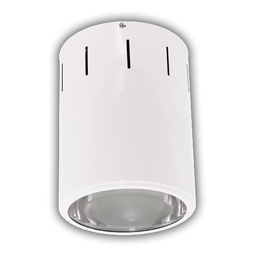 Plafon de Sobrepor em Alumínio para 1 Lâmpada HQI - Branco R-546