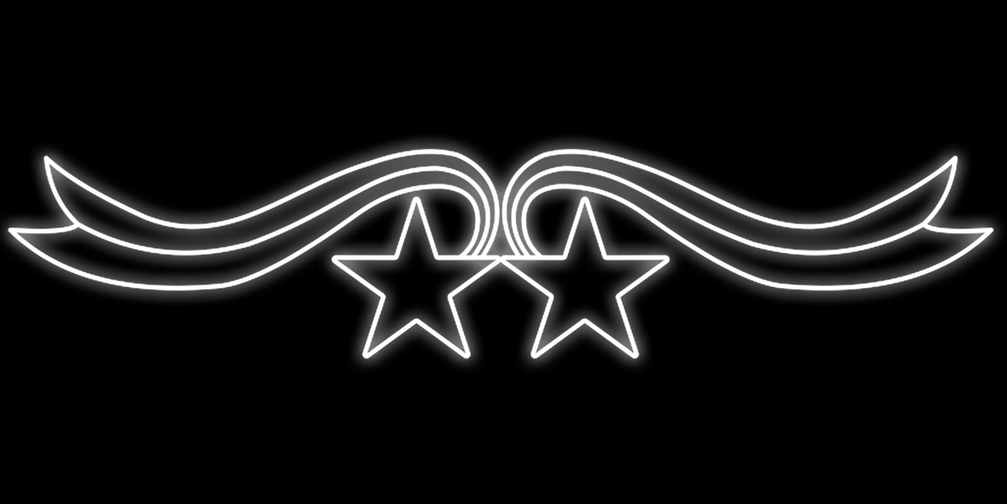 PO-014 - Painel Iluminado Led Dupla Estrela - (Veja Opções Tamanhos)