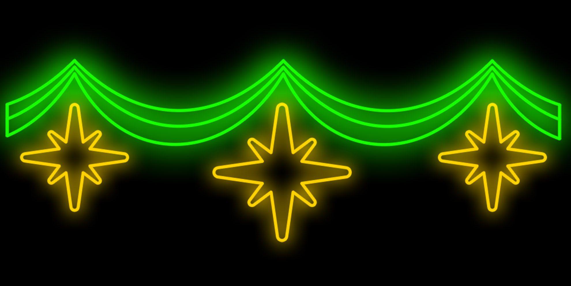 PO-012 - Painel Iluminado Led TRI STAR - (Veja Opções Tamanhos)