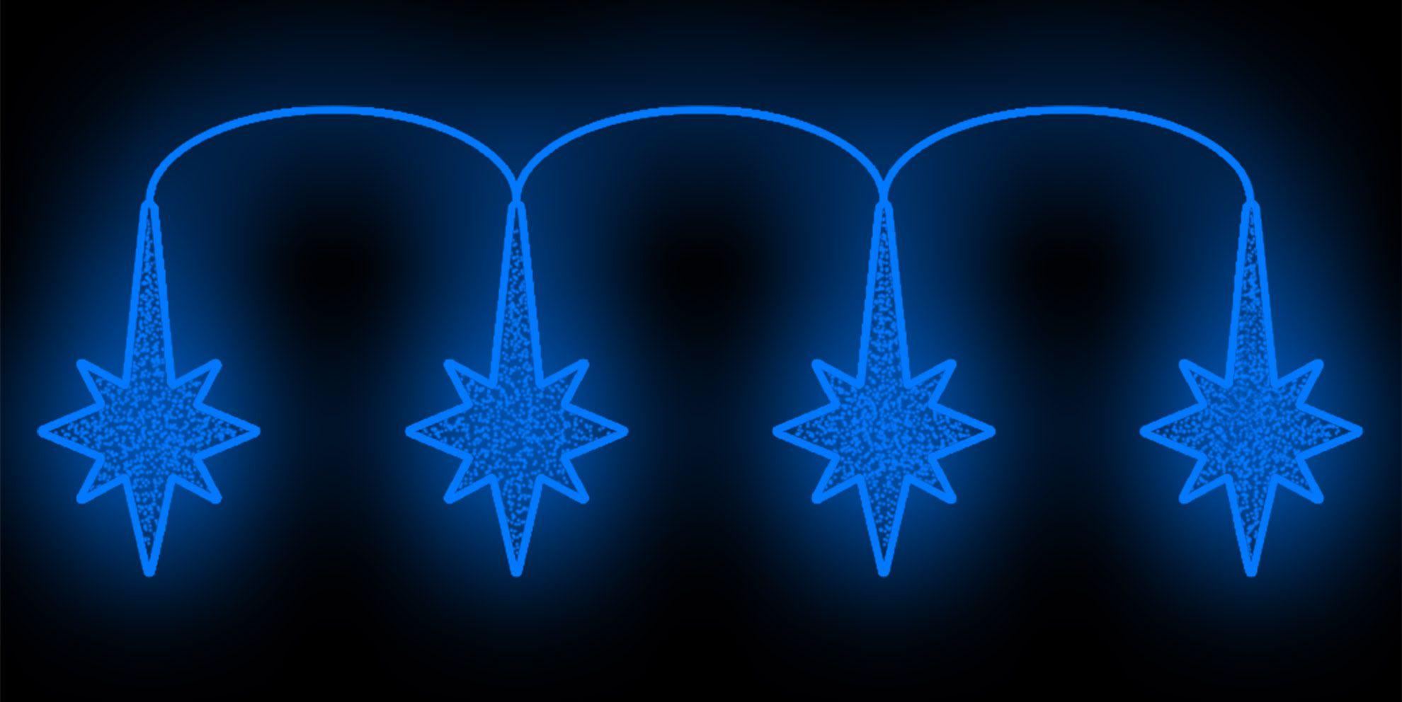 PO-018 - Painel Iluminado Led Estrelas Unidas Sul - (Veja Opções Tamanhos)