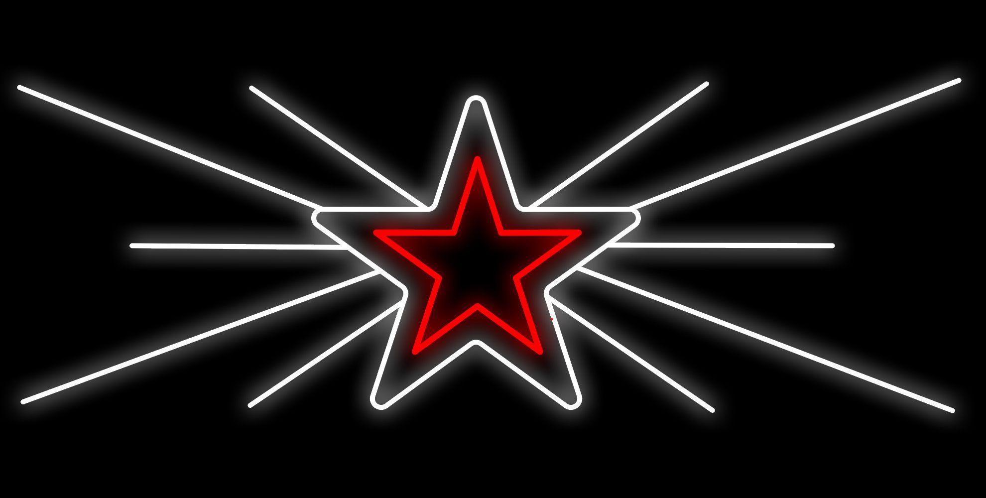 PO-040 - Painel Iluminado Led Estrela Nascente - (Veja Opções Tamanhos)