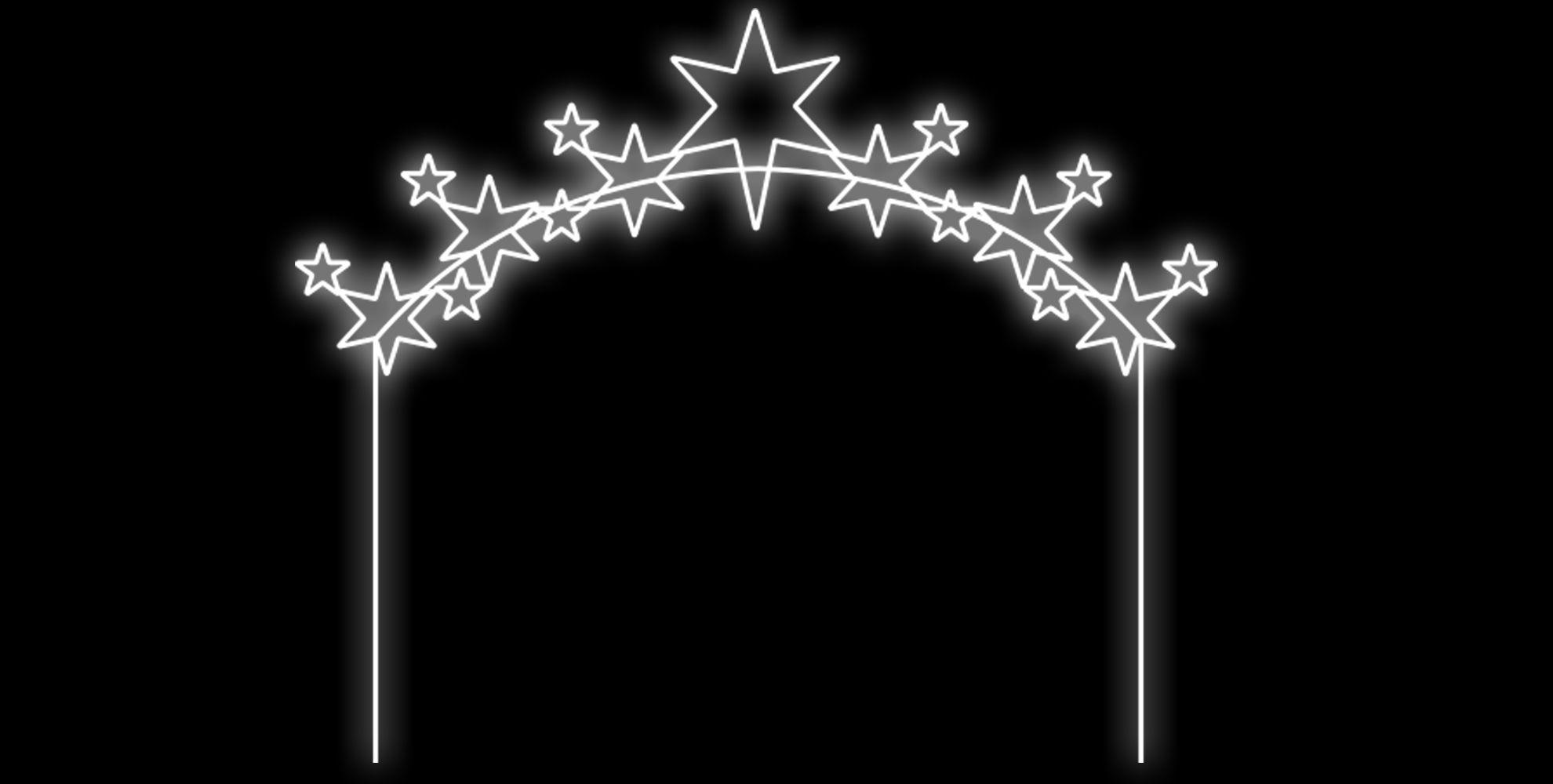 PO-043 - Painel Iluminado Led Caminho Estrelado - (Veja Opções Tamanhos)