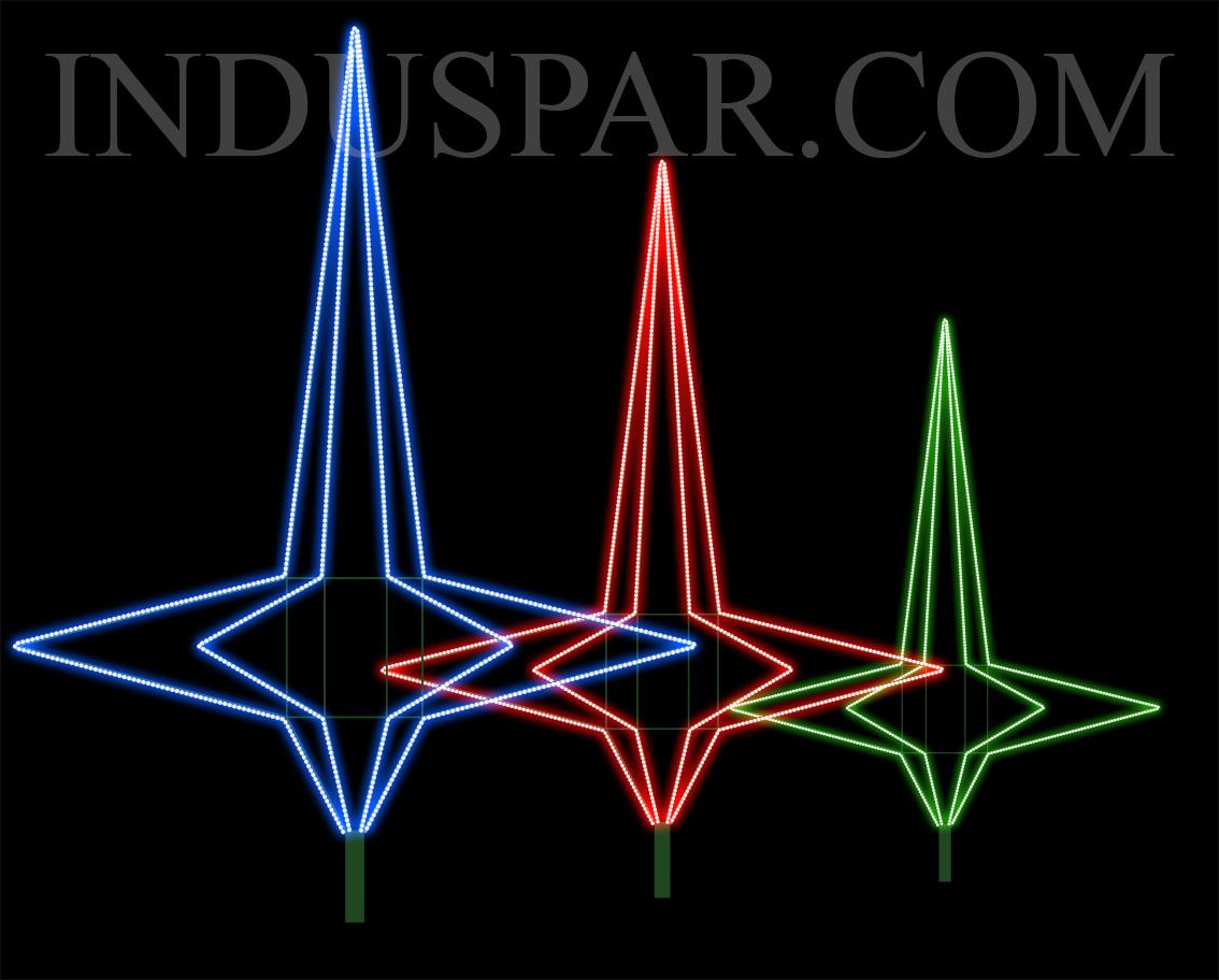 AR-500 - Ponteiras Decorativa Arvore de Natal Gigante 3D - (Alturas de 0,75 a 6,00 metros)