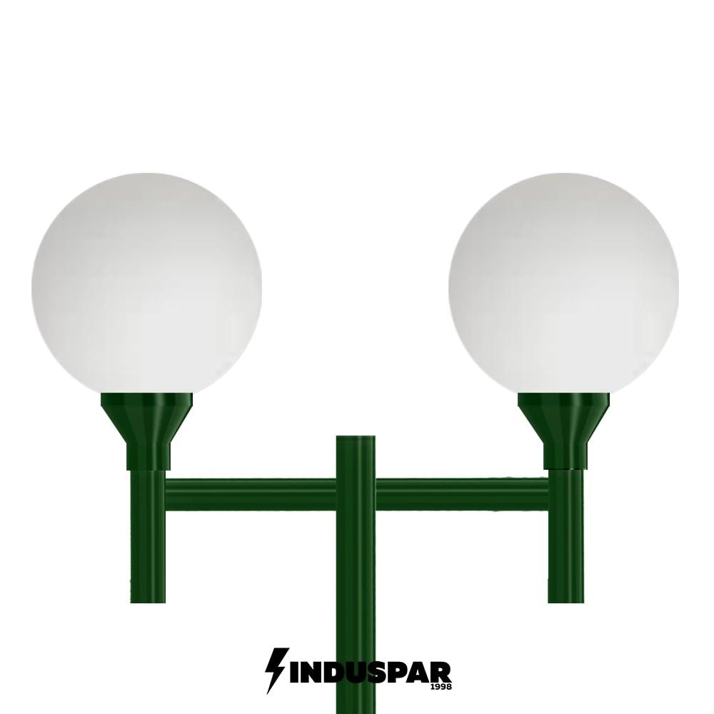 Poste Colonial de Jardim - P01G/2 - 2 Globos 30 cm