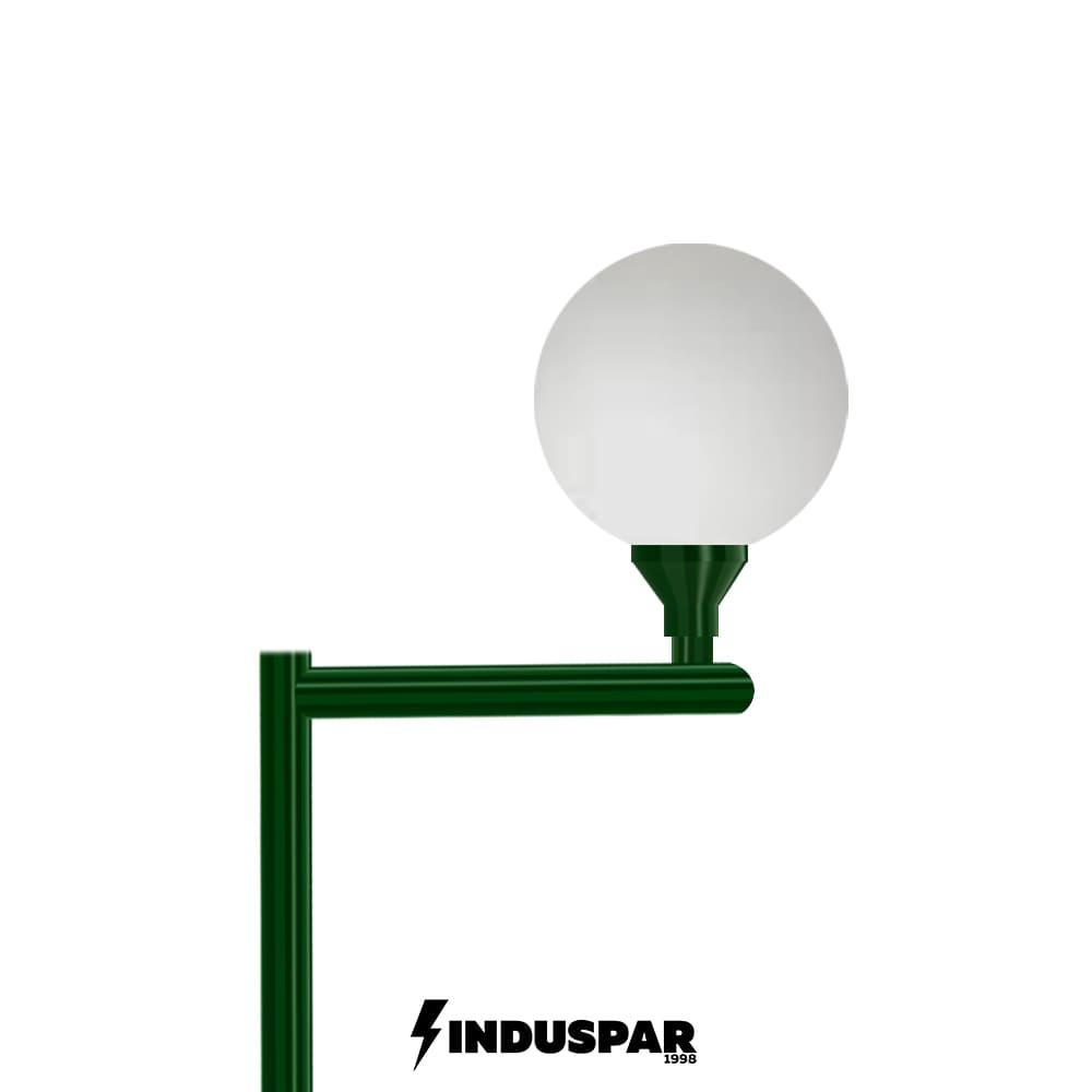 Poste Colonial de Jardim - P03G/1 - 1 Globo 30 cm Braço Reto