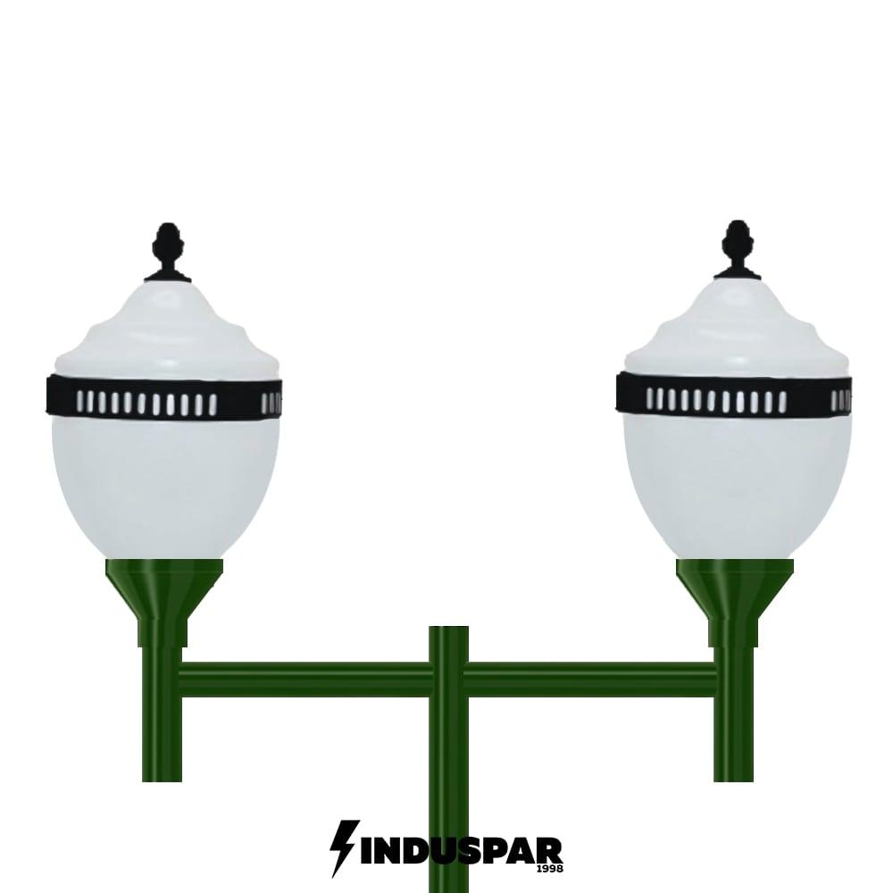 Poste Colonial de Jardim - P04G/2 - 2 Globos Republicanos