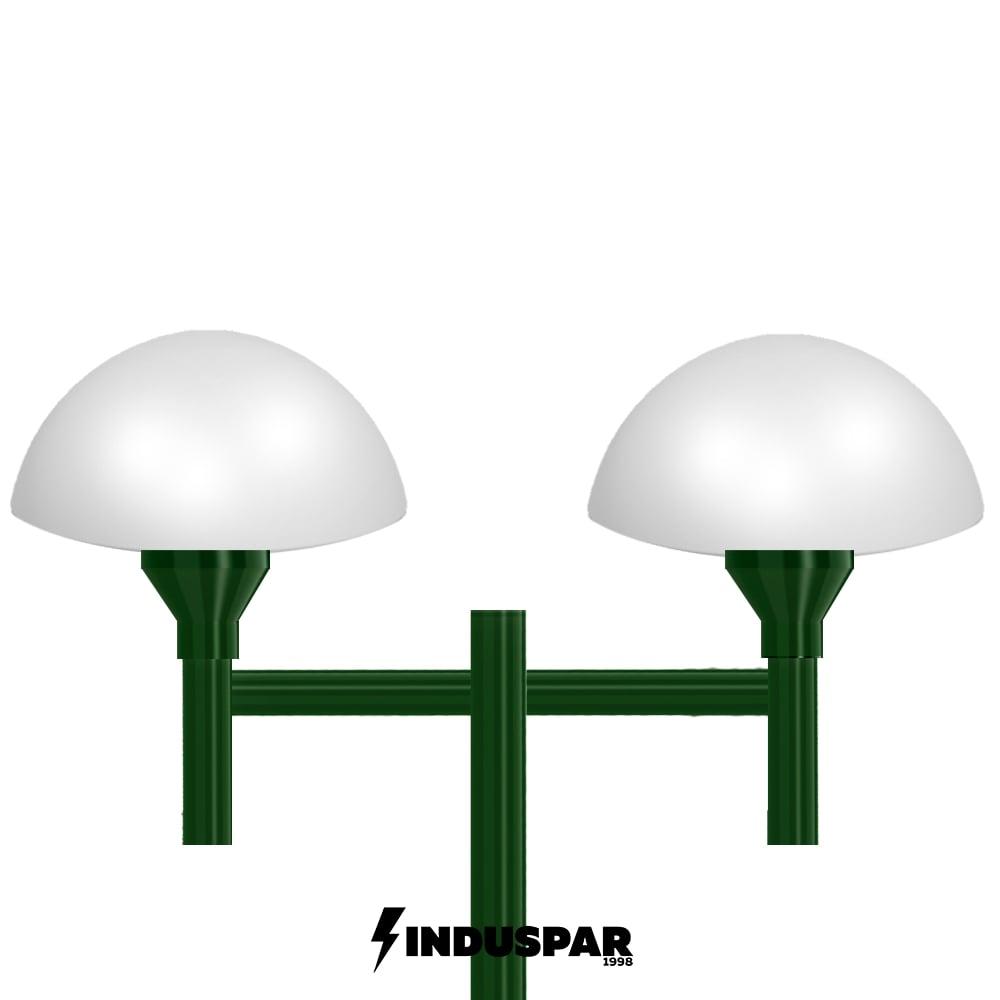Poste Colonial de Jardim - P06G/2 - 2 Globos Cogumelos
