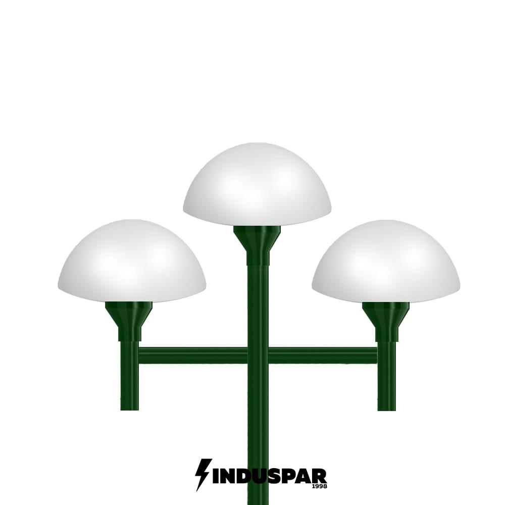 Poste Colonial de Jardim - P06G/3 - 3 Globos Cogumelos