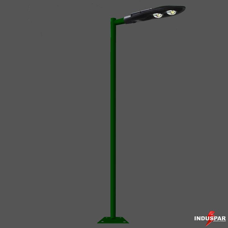 Poste de Iluminação Led Reto - 1 Luminária Pétala 100W (3 à 12 Metros)