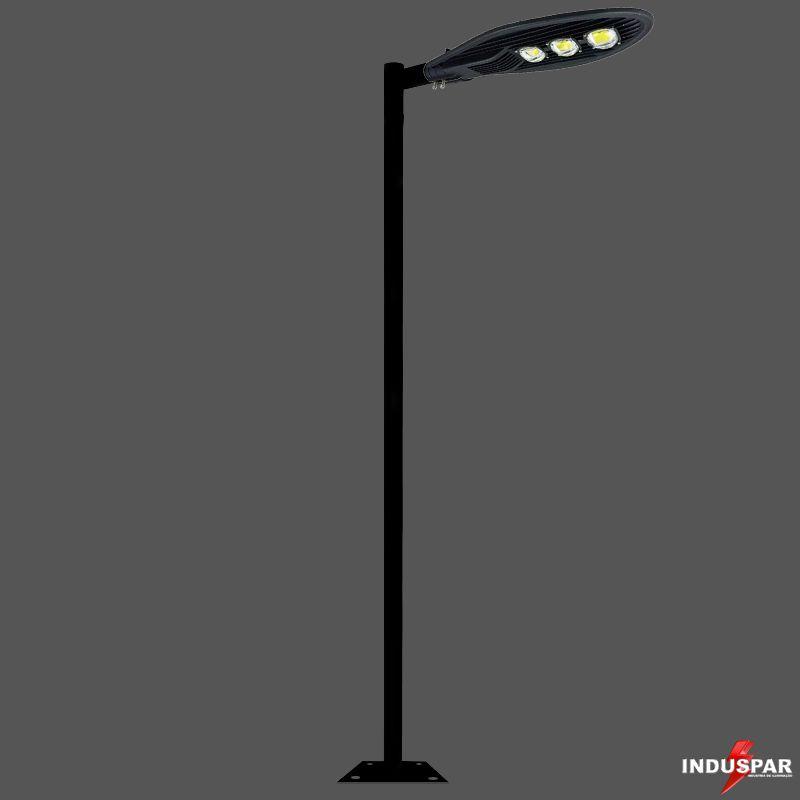 Poste de Iluminação Led Reto - 1 Luminária Pétala 150W (3 à 12 Metros)
