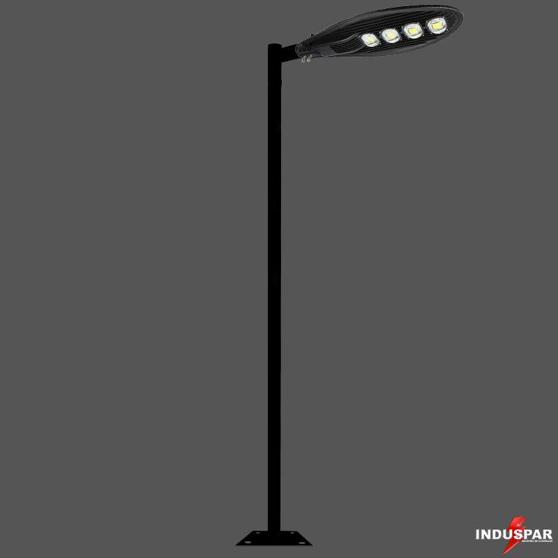 Poste de Iluminação Led Reto - 1 Luminária Pétala 200W (3 à 12 Metros)