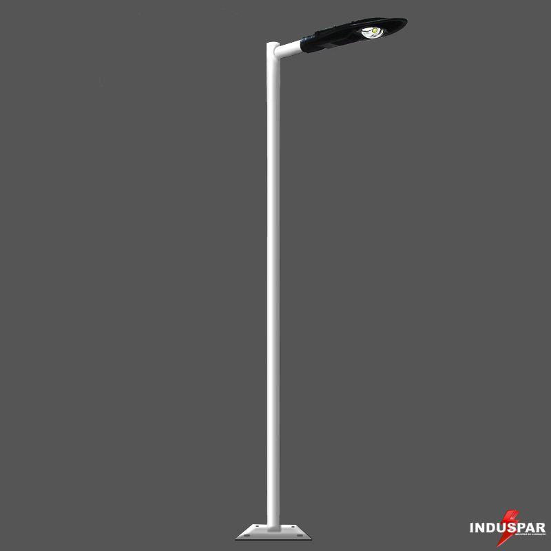 Poste de Iluminação Led Reto - 1 Luminária Pétala  50W (3 à 12 Metros)