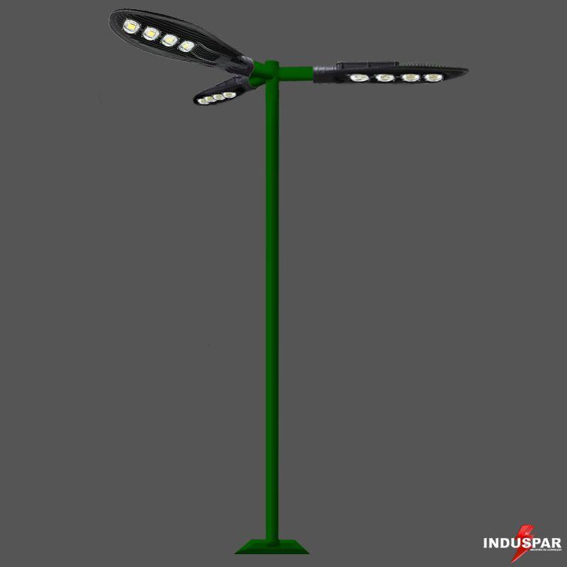 Poste de Iluminação Led Reto - 3 Luminárias Pétala 200W (3 à 12 Metros)