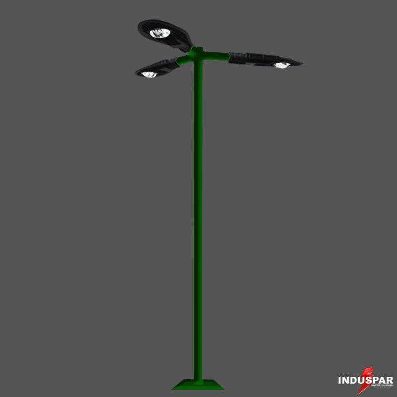 Poste de Iluminação Led Reto - 3 Luminárias Pétala  50W (3 à 12 Metros)