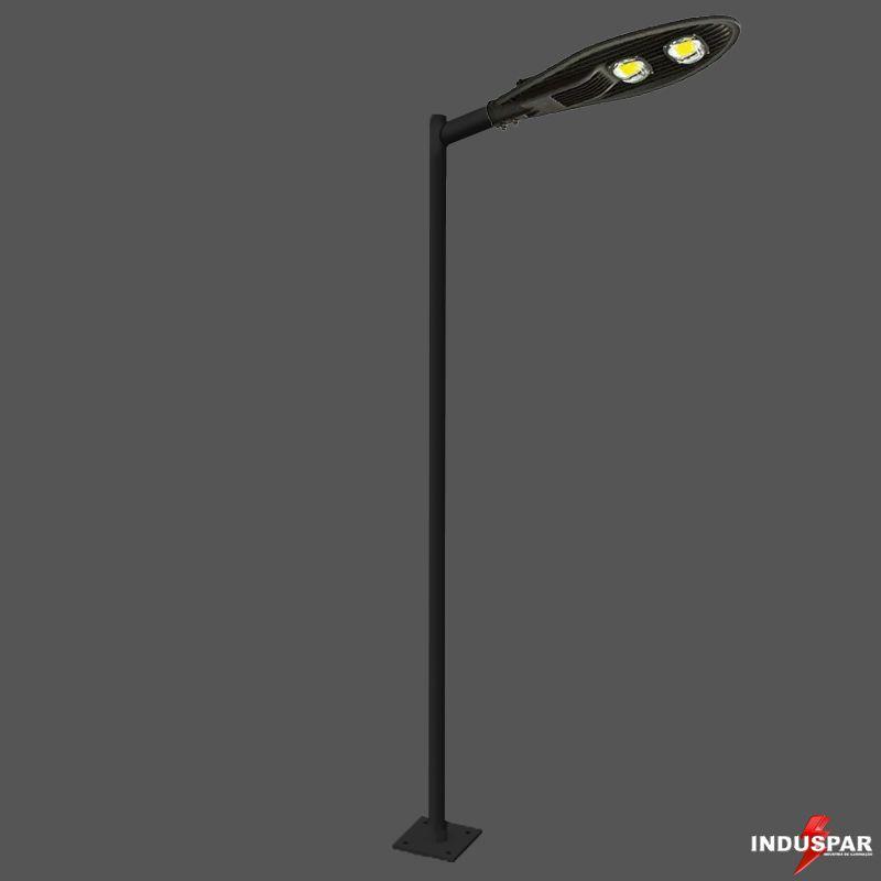 Poste de Iluminação Led Reto Angular - 1 Luminária Pétala 100W (3 à 12 Metros)