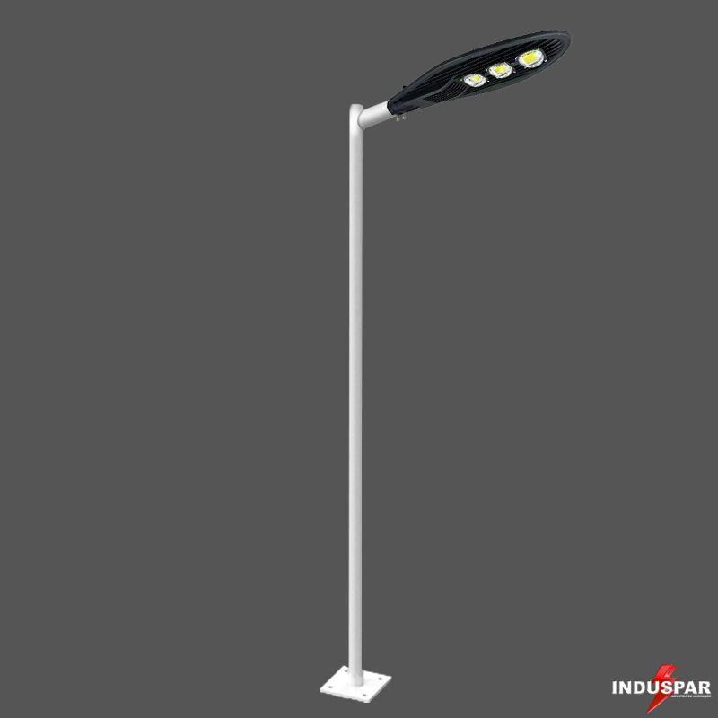 Poste de Iluminação Led Reto Angular - 1 Luminária Pétala 150W (3 à 12 Metros)