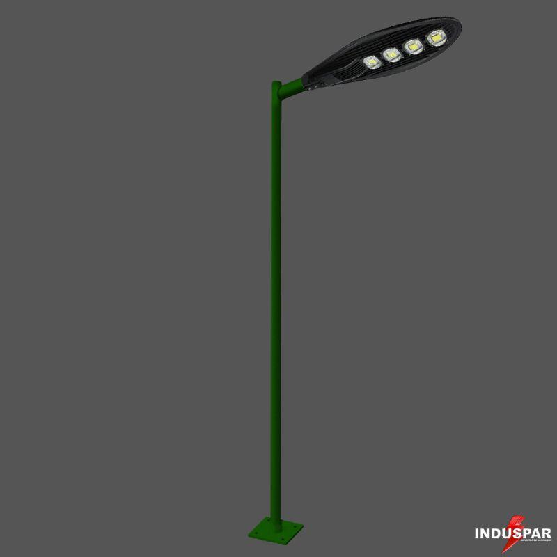 Poste de Iluminação Led Reto Angular - 1 Luminária Pétala 200W (3 à 12 Metros)