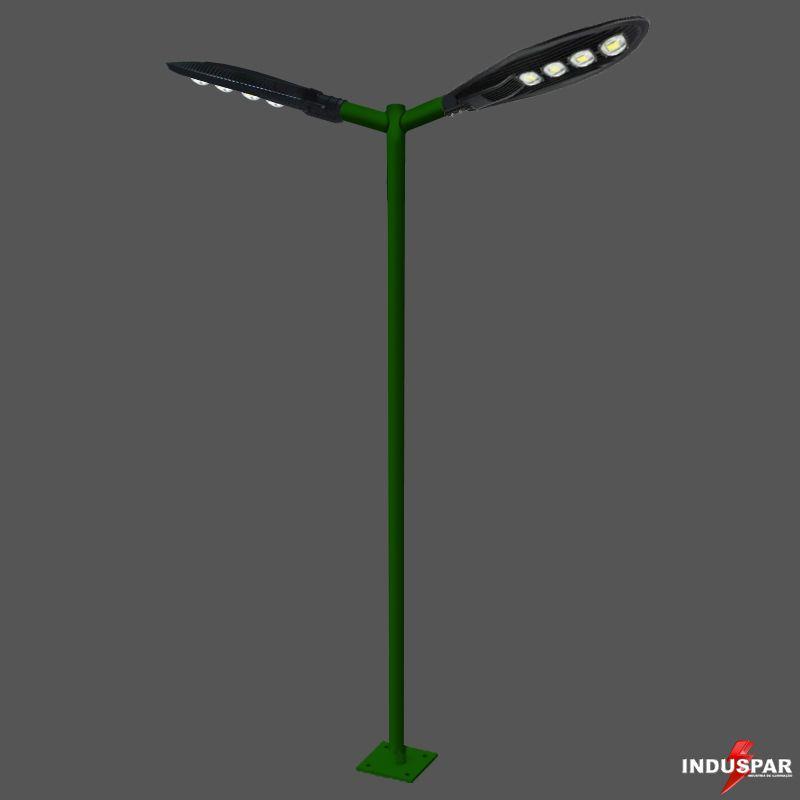 Poste de Iluminação Led Reto Angular - 2 Luminárias Pétala 200W (3 à 12 Metros)