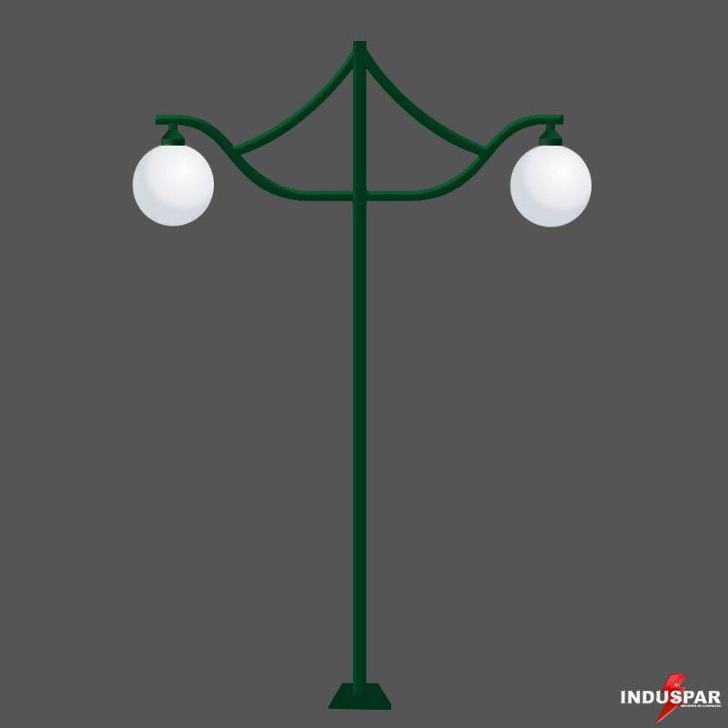 Poste de Jardim - Agata 2 Globos - P10G/2