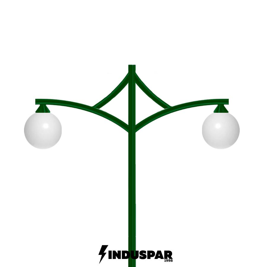 Poste de Jardim - Ametista 2 Globos - P11G/2