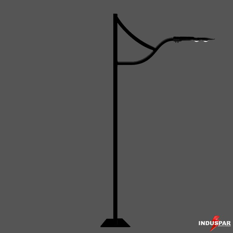 Poste de Jardim LED - Ágata 1 Luminária - P10L/1