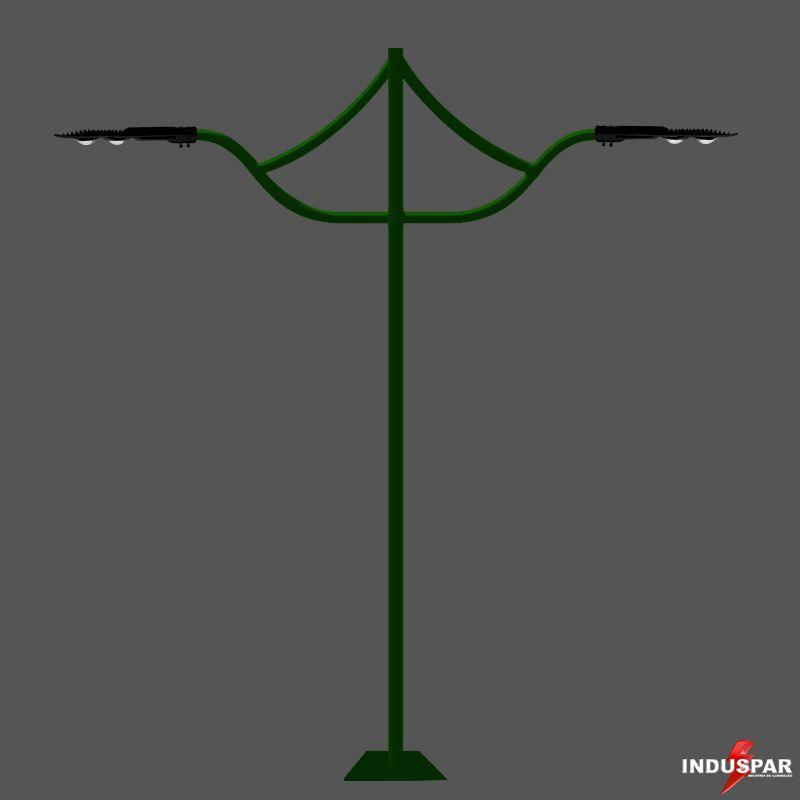Poste de Jardim LED - Ágata 2 Luminárias - P10L/2
