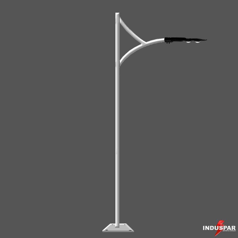 Poste de Jardim LED - Ametista 1 Luminária - P11L/1
