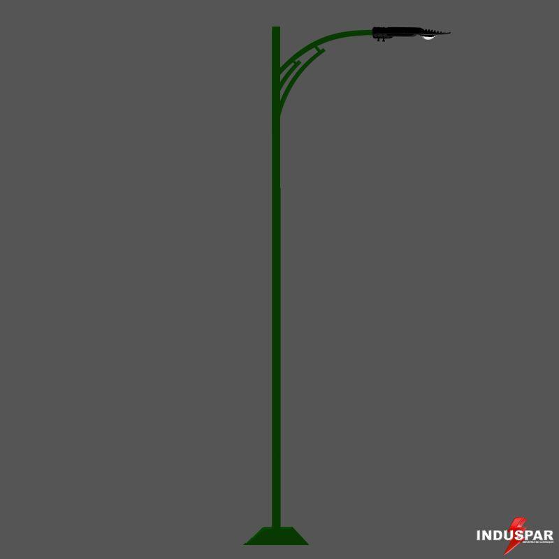 Poste de Jardim Led - Berilo 1 Luminária - P12L/1-50W